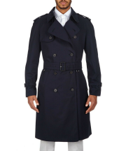 AQUASCUTUM Navy KINGSGATE Trench Rain Coat MADE In ENGLAND New With Tags
